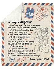 I Close My Eyes For But A Moment Dad To Daughter Sherpa Fleece Blanket tile
