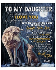 """Never Forget That I Love U Wolf Dad To Daughter  Fleece Blanket - 50"""" x 60"""" front"""
