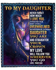 """Never Forget How Much I LoveU Lion Dad To Daughter Fleece Blanket - 50"""" x 60"""" front"""
