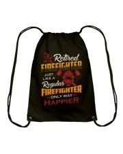 Retired Firefighter Drawstring Bag thumbnail