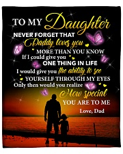 """Daughter Never Forget That Daddy Loves You Fleece Blanket - 50"""" x 60"""" front"""