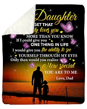 Daughter Never Forget That Daddy Loves You Sherpa Fleece Blanket tile