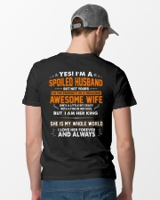 Spoiled Husband Of A Freaking Awesome Wife Classic T-Shirt lifestyle-mens-crewneck-back-6