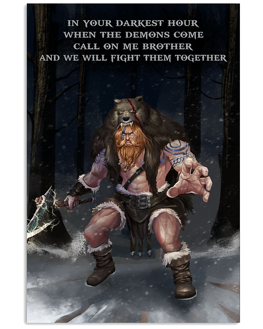 Viking Warrior Fight Them together 11x17 Poster