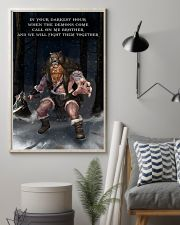 Viking Warrior Fight Them together 11x17 Poster lifestyle-poster-1
