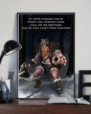 Viking Warrior Fight Them together 11x17 Poster lifestyle-poster-2