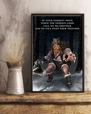 Viking Warrior Fight Them together 11x17 Poster lifestyle-poster-3