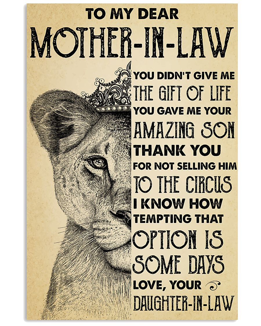 To My MIL Thanks For Not Selling Him To The Circus 11x17 Poster