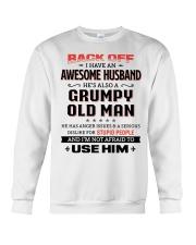 Back Off I Have An Awesome Husband Crewneck Sweatshirt thumbnail