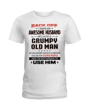 Back Off I Have An Awesome Husband Ladies T-Shirt front