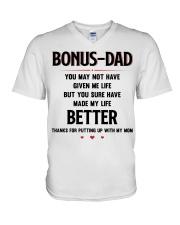 Bonus Dad V-Neck T-Shirt thumbnail