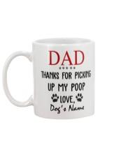 Personalized Name funny Dog Dad picking poop Mug back