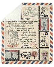 Im So Proud Of You Grandma To Granddaughter Sherpa Fleece Blanket tile