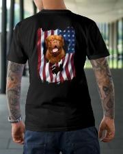 Ariege Pointer Flag Dogue de Bordeaux Classic T-Shirt lifestyle-mens-crewneck-back-3