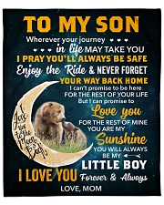 """Son Bear I Can Promise 2LoveU For The Rest Of Mine Fleece Blanket - 50"""" x 60"""" front"""