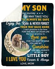 Son Bear I Can Promise 2LoveU For The Rest Of Mine Sherpa Fleece Blanket tile