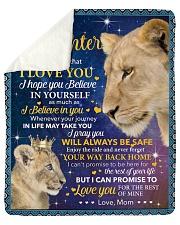 Never Forget That I Love U Lion Mom To Daughter Sherpa Fleece Blanket tile