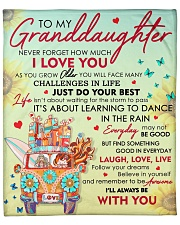 """Granddaughter Never Forget That I Love You  Fleece Blanket - 50"""" x 60"""" front"""