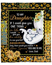 """Elephant-If I could give U 1 thing-Dad-To-Daughter Fleece Blanket - 50"""" x 60"""" front"""