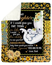 Elephant-If I could give U 1 thing-Dad-To-Daughter Sherpa Fleece Blanket tile
