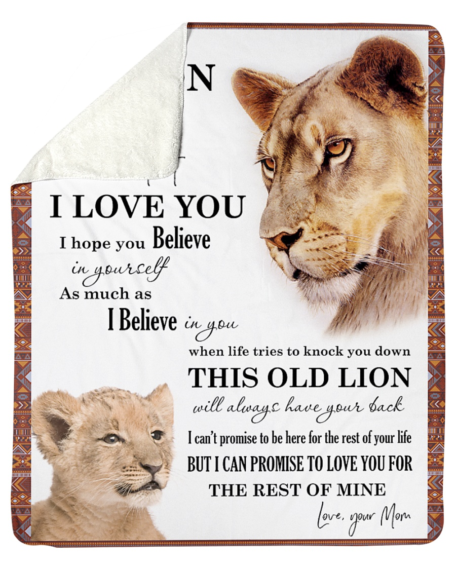 "To My Son I Love You Sherpa Fleece Blanket - 50"" x 60"""