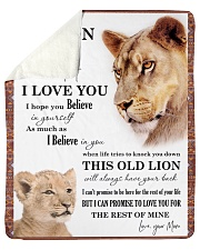 "To My Son I Love You Sherpa Fleece Blanket - 50"" x 60"" front"