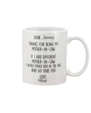 Personalized NameThanks For Being My Mother-In-Law Mug front