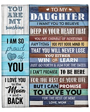 "Daughter I Can Promise To Love You For The Rest Fleece Blanket - 50"" x 60"" front"