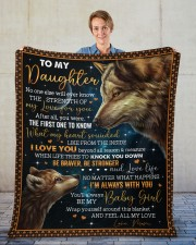 """No One Else Will Ever Know Wolf Mom To Daughter Fleece Blanket - 50"""" x 60"""" aos-coral-fleece-blanket-50x60-lifestyle-front-01"""
