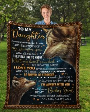 """No One Else Will Ever Know Wolf Mom To Daughter Fleece Blanket - 50"""" x 60"""" aos-coral-fleece-blanket-50x60-lifestyle-front-01a"""