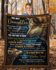 """No One Else Will Ever Know Wolf Mom To Daughter Fleece Blanket - 50"""" x 60"""" aos-coral-fleece-blanket-50x60-lifestyle-front-01b"""