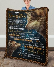 """No One Else Will Ever Know Wolf Mom To Daughter Fleece Blanket - 50"""" x 60"""" aos-coral-fleece-blanket-50x60-lifestyle-front-02a"""