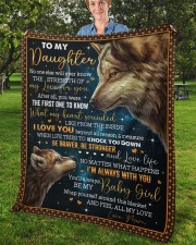 """No One Else Will Ever Know Wolf Mom To Daughter Fleece Blanket - 50"""" x 60"""" aos-coral-fleece-blanket-50x60-lifestyle-front-02b"""