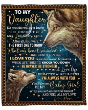 """No One Else Will Ever Know Wolf Mom To Daughter Fleece Blanket - 50"""" x 60"""" front"""