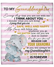 """My Love For U Is Forever Elephants GM To GD Fleece Blanket - 50"""" x 60"""" front"""