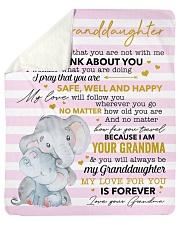 My Love For U Is Forever Elephants GM To GD Sherpa Fleece Blanket tile
