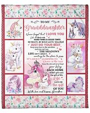 "Unicorn-Never 4get I Love U -Grandma-Granddaughter Fleece Blanket - 50"" x 60"" front"