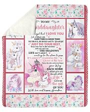 "Unicorn-Never 4get I Love U -Grandma-Granddaughter Sherpa Fleece Blanket - 50"" x 60"" thumbnail"