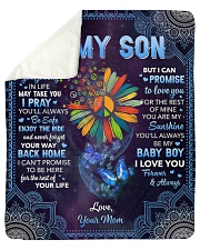 """Whenever Your Journey In Life Mom To Son Sherpa Fleece Blanket - 50"""" x 60"""" thumbnail"""