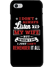 I Don't Always Listen To My Wife Phone Case thumbnail