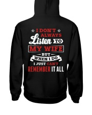 I Don't Always Listen To My Wife Hooded Sweatshirt thumbnail