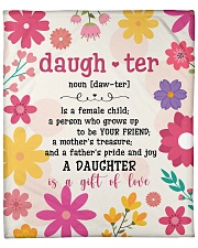 """Is A Female Child - Flower Mom To Daughter Fleece Blanket - 50"""" x 60"""" front"""