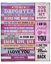 """You Are My Sunshine Mom To Daughter Fleece Blanket - 50"""" x 60"""" front"""