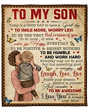 """Today Is A Good Day Have Great Day Mom To Son Fleece Blanket - 50"""" x 60"""" front"""