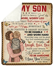 """Today Is A Good Day Have Great Day Mom To Son Sherpa Fleece Blanket - 50"""" x 60"""" thumbnail"""