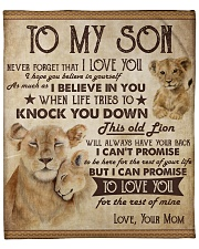 """Never Forget That I Love U Lion Mom To Son Fleece Blanket - 50"""" x 60"""" front"""