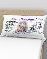 Once Upon A Time When I Asked God Dad To Daughter Rectangular Pillowcase aos-pillow-rectangular-front-lifestyle-02