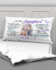 Once Upon A Time When I Asked God Dad To Daughter Rectangular Pillowcase aos-pillow-rectangular-front-lifestyle-03