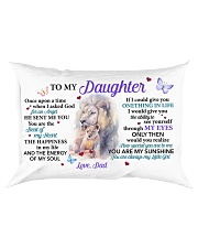 Once Upon A Time When I Asked God Dad To Daughter Rectangular Pillowcase front