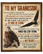 """When Life's Troubles Eagle Grandma To Grandson Fleece Blanket - 50"""" x 60"""" front"""